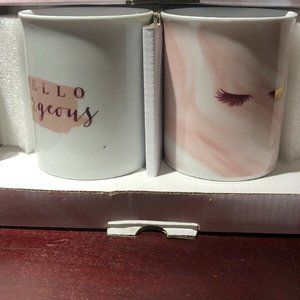 Hello Gorgeous set of 2 Coffee Mugs- NEW